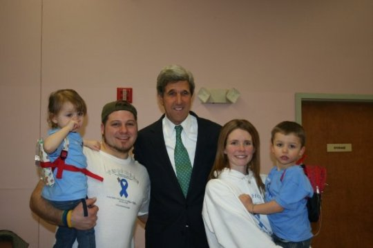 Our family with Senator Kerry