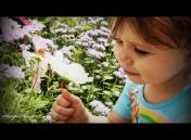 Sasha smelling flower 08 04 08