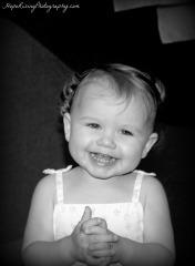 Sasha Smiling BW