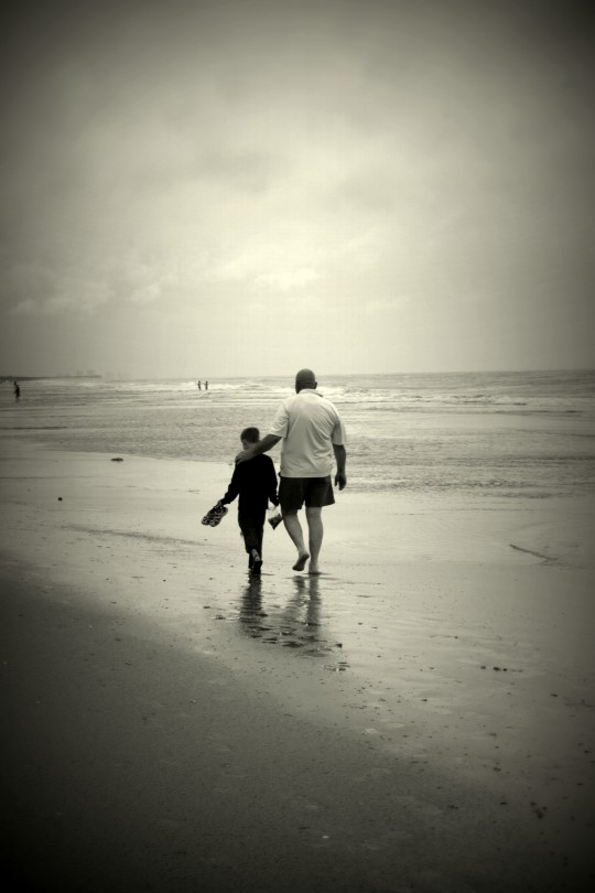 Dad and Will Beach