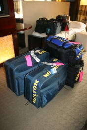 This was our luggage for 4 of us (2 adults and 2 children) back in 2009, it has tripled since with all the medical equipment)